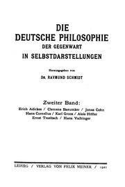 Die Philosophie Der Gegenwart In Selbstdarstellungen Bd 2