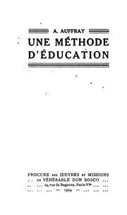 Une méthode d-éducation