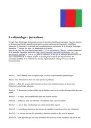 Déontologie Des Journalistes De La Première République Marocaine