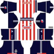 6f8aee04e dream legue soccer kit chivas local 2013 uniforme