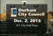 Durham City Council Meeting December 2 2013 City Of Durham Nc