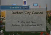 Durham City Council Meeting February 6 2017 City Of Durham Nc