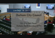 Durham City Council Meeting Sept 18 2017 1 Of 2 City Of Durham