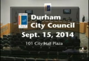 Durham City Council Meeting September 15 2014 City Of Durham Nc
