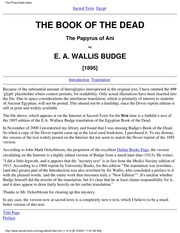 e a wallis budge egyptian book of the dead