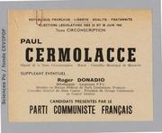 Législatives 1968 (Bouches-du-Rhône, 7e circonscription): bulletins de vote du 2nd tour