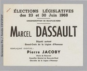 Législatives 1968 (Oise, 1ere circonscription) : bulletins de vote du 1er tour