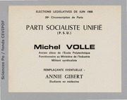 Législatives 1968 (Paris, 29e circonscription) : bulletins de vote du 1er tour