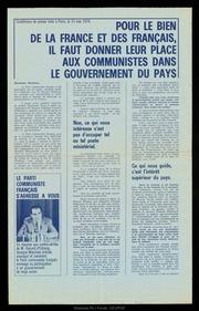 Pour le bien de la France et des Français