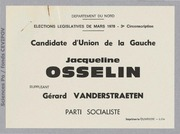 Législatives 1978 (Nord, 3e circonscription) : bulletins de vote du 2nd tour