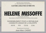 Législatives 1978 (Paris, 24e circonscription) : bulletins de vote du 2nd tour