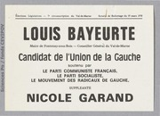 Législatives 1978 (Val de Marne, 7e circonscription) : bulletins de vote du 2nd tour