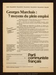 Georges Marchais 7 moyens du plein emploi