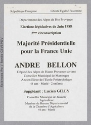 Législatives 1988 (Alpes de Haute-Provence, 2e circonscription) : bulletins de vote du 1er tour