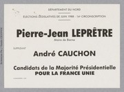 Législatives 1988 (Nord, 14e circonscription) : bulletins de vote du 2nd tour