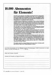 Elemente für die europäische Wiedergeburt 1