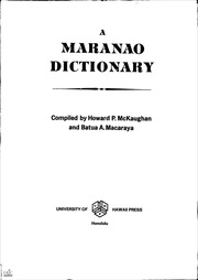 ERIC ED013450: A MARANAO DICTIONARY  : ERIC : Free Download, Borrow