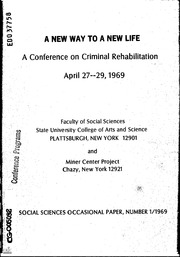 criminal rehabilitation essays Free essay on criminal rehabilitation research paper available totally free at echeatcom, the largest free essay community.