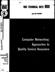 ERIC ED095884: Computer Networking: Approaches to Quality Service Assurance. Technical Note No. 800.