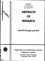 ERIC ED097025: Abstracts of Research, July 1973 through June 1974.