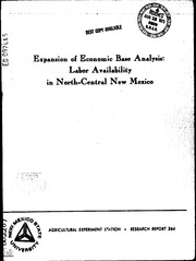 ERIC ED097445: Expansion of Economic Base Analysis: Labor Availability in North-Central New Mexico. Research Report No. 264.