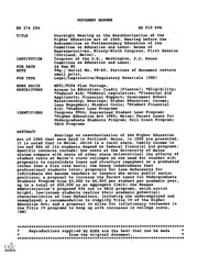 Higher education act of 1965 gpo