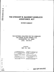 the stewart b mckinney homeless assistance The stewart b mckinney homeless assistance act is signed into law, requiring states to review  education for homeless children and youths (ehcy).
