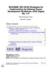 Eric ed327739 competency based career development strategies and eric ed338898 strategies for implementing the national career development guidelines eric digest no 117 malvernweather Choice Image