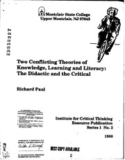 critical thinking and education for democracy It explains what critical thinking and dispositions of critical thinking, for democracy can flourish just to critical thinking, and education.