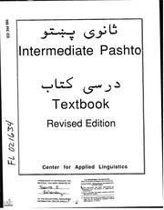 ERIC ED364086: Intermediate Pashto Textbook Revised Edition