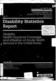 ERIC ED367124: Disability, Health Insurance Coverage, and