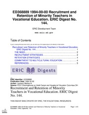 essays on retention and recruitment of teachers Can district leaders attract great teachers by simply thinking about what their empirical literature on teacher recruitment and retention and confirmed.