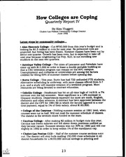 eric ed377922 how colleges are coping 1992 eric