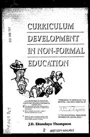 ERIC ED388757: Curriculum Development In Non Formal Education.
