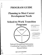 Eric ed446296 the blueprint for lifework designs eric free eric ed391140 planning to meet career development needs school to work transitional programs program guide second edition malvernweather Choice Image
