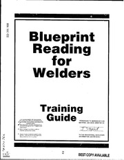 Blueprint reading for welders bennett a e free download amp eric ed391908 blueprint reading for welders training guide malvernweather Image collections
