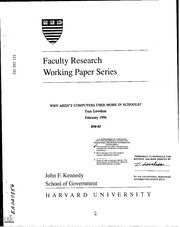 Ksg faculty research working paper