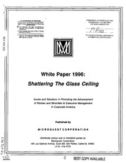 minority women and the glass ceiling essay Minorities and the glass ceiling the glass ceiling impacts women and minorities alike since the demographics of the united states are rapidly changing.