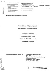 eric ed403316 structural model of coping appraisals and