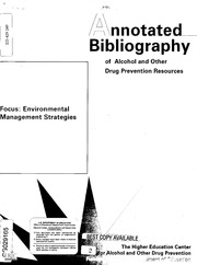 alcohol annotated bibliography Annotated bibliography for master of public health research on the opioid  overdose and abuse  888% in females and cannabis and alcohol were the  most.
