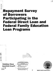 direct loan and federal family education loan programs volume one. Cars Review. Best American Auto & Cars Review