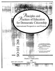 principles of democratic education Principles and concepts for educating citizens in a global age center for multicultural education, college of education university of washington, seattle the ability to reach unity in diversity will be.