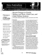 federalism in welfare programs Federal and state governments spent $102 trillion on welfare in 2014 an increase of $274 billion, or 36 percent, since 2003 after adjusting for inflation at the federal level, the welfare.