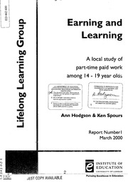 education and training 14 19 hodgson ann spours ken