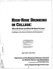 """the problem of binge drinking in americas campuses It is no secret that alcohol use is prevalent on college campuses  percent of  them have partaken in binge drinking in the last two weeks alone  the """"legal  age 21 is not working—not in urban america, not in rural america,."""