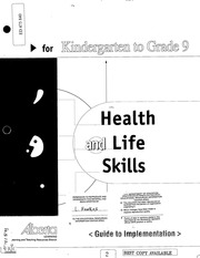 health and life skills guide to implementation