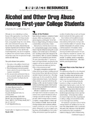 alcohol abuse in college students essay