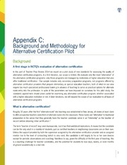 ERIC ED545346: Appendix C: Background and Methodology for Alternative Certification Pilot. 2014 Teacher Prep Review