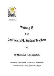ERIC ED557724: Writing II for 2nd Year EFL Student Teachers