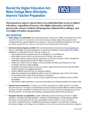ERIC ED557968: Revisit the Higher Education Act: Make College More Affordable, Improve Teacher Preparation
